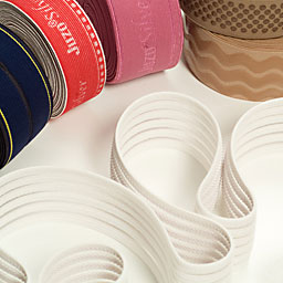Elastic tapes, non-elastic tapes, narrow fabrics, woven bands and knitted bands